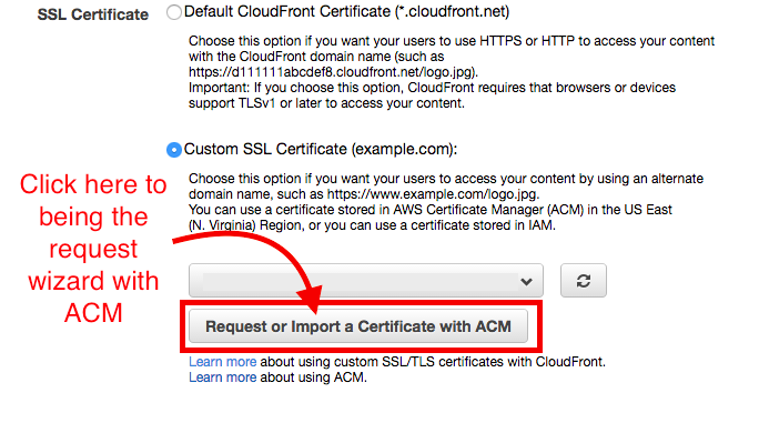 A simple guide to setting up SSL using Amazon Certificate